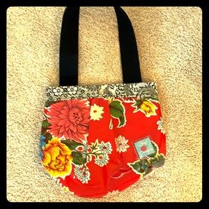 Red Floral oilcloth purse by nJoy Designs